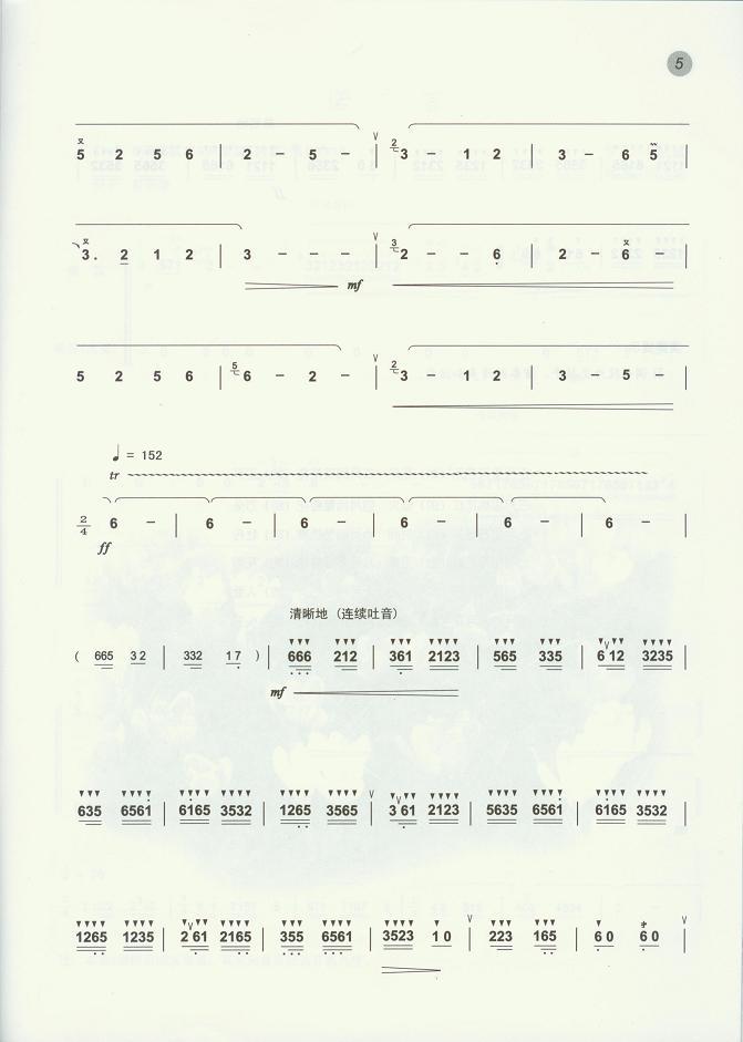 笛子 曲谱/采花(笛子曲谱)