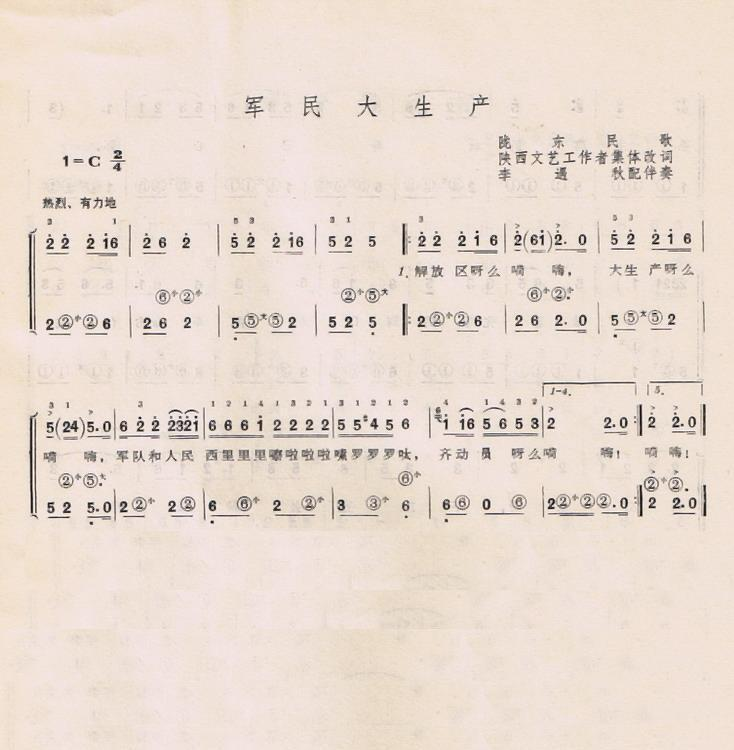 军民大生产(手风琴简谱系列38)图片