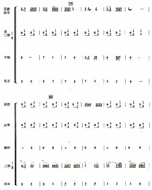 紫竹调(民乐合奏曲)【彩谱】;