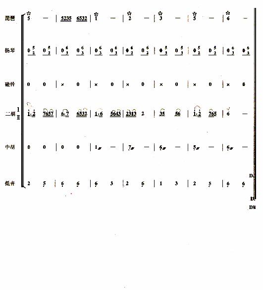 《紫竹调(民乐合奏)》 总谱