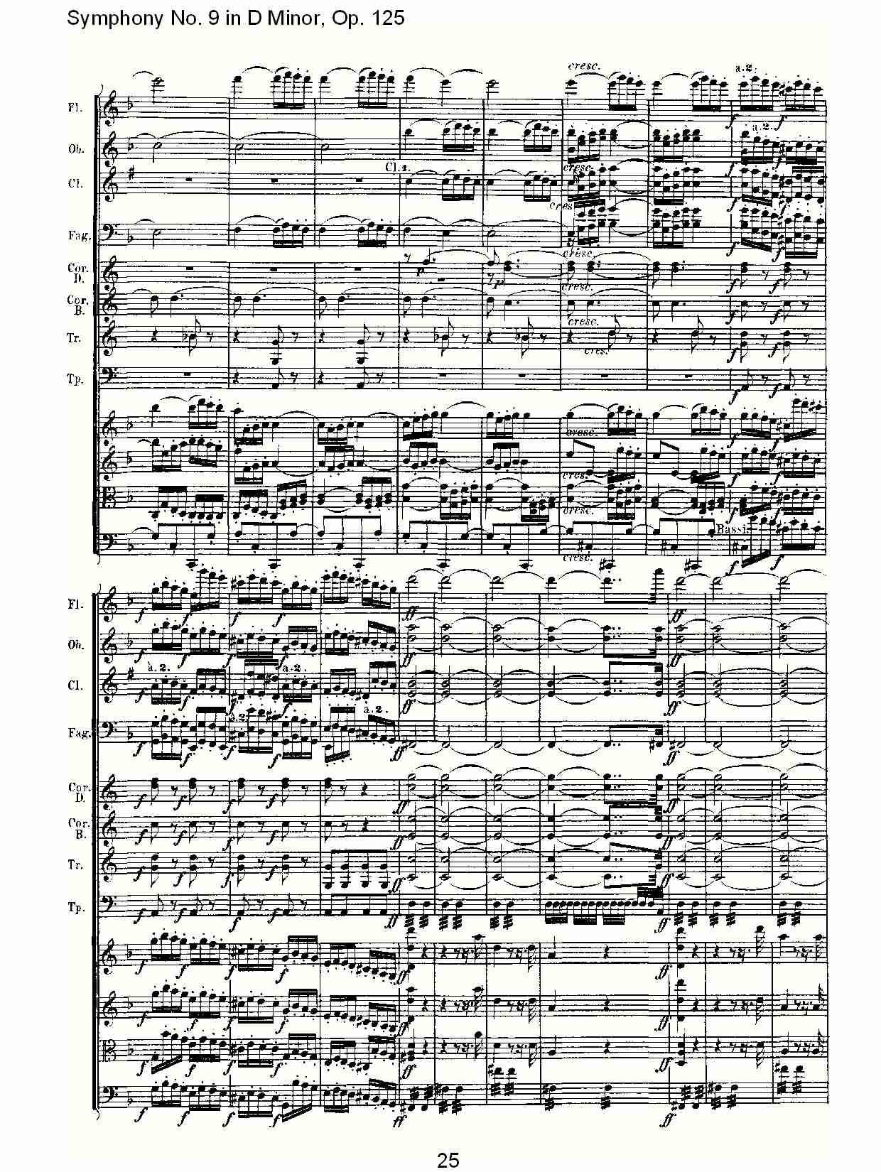 交响乐嘎达梅林总谱-D大调第九交响曲 Op.125 第一乐章 三