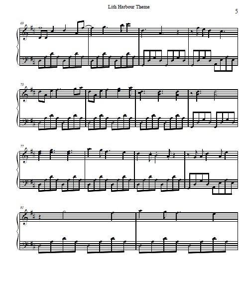 《冒险岛-天空之城》 钢琴谱