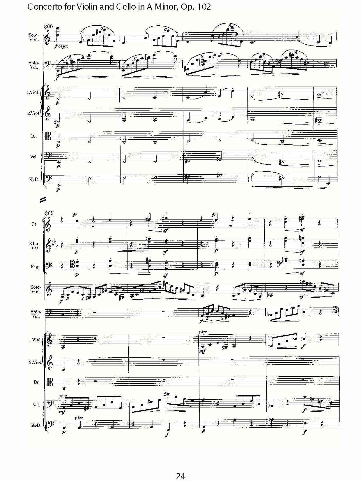 a小调小提琴与大提琴协奏曲, op.102第一乐章(五)