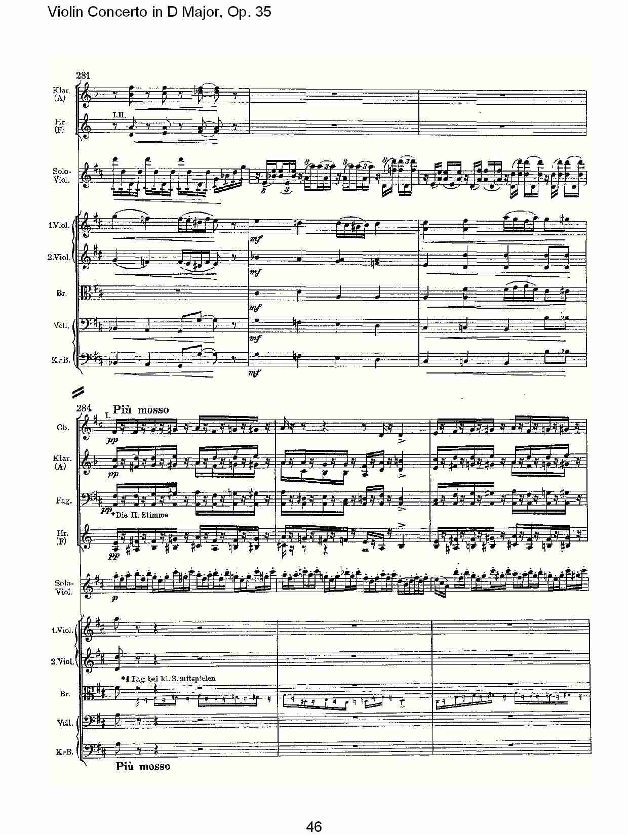 d大调小提琴协奏曲, op.35第一乐章(十)