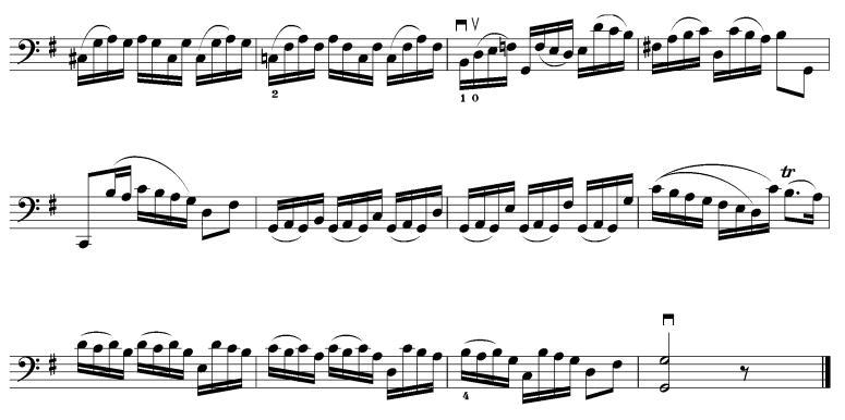 库兰特舞曲 大提琴谱
