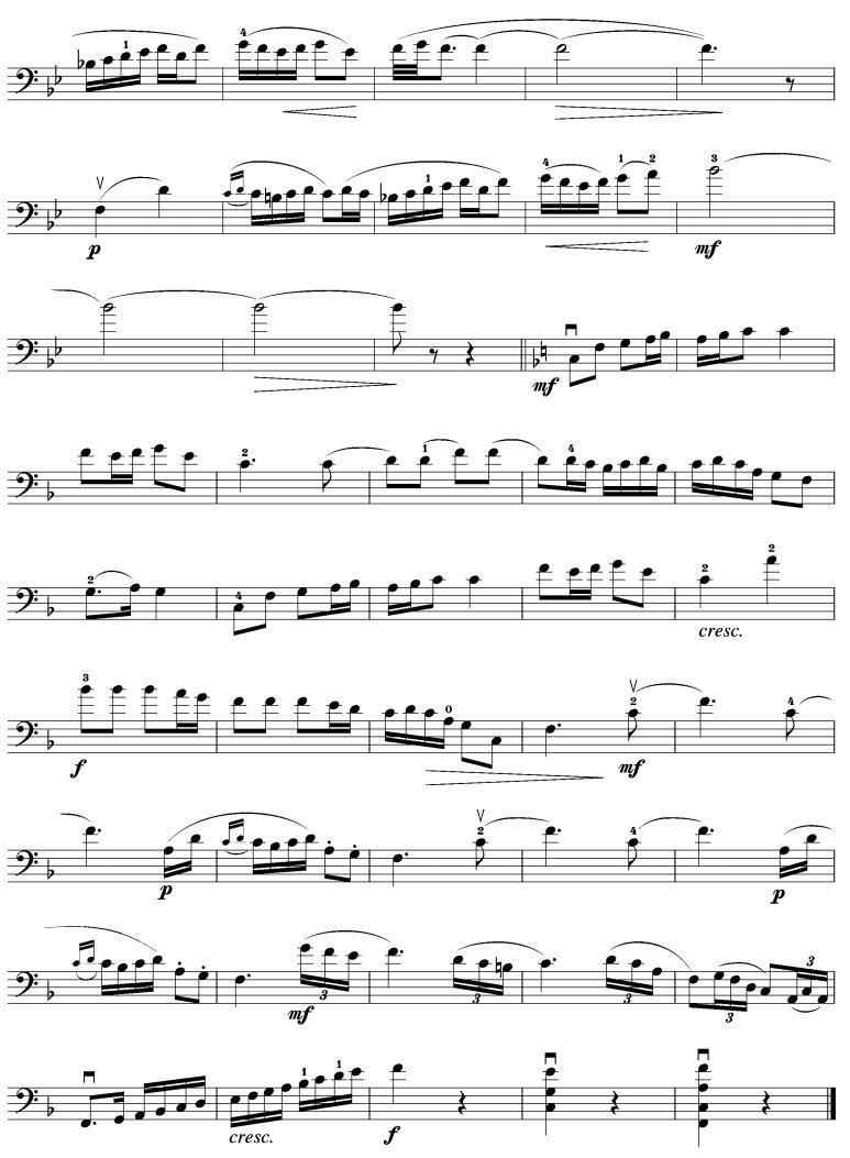乡村舞曲 大提琴谱