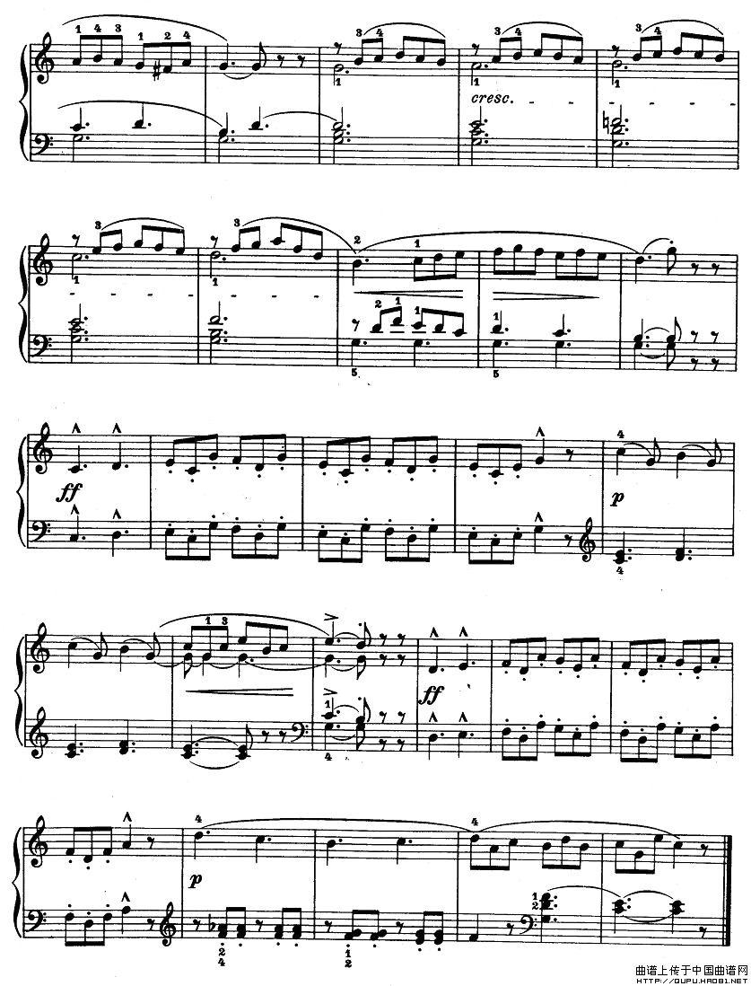孩子们的拜厄9条谱子-钢琴谱 钢琴 练习曲