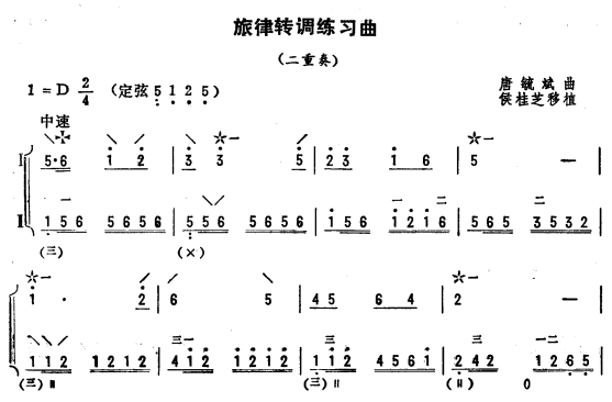 旋律转调练习曲 琵琶二重奏 1