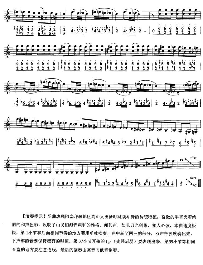 马刀舞曲(口风琴)3