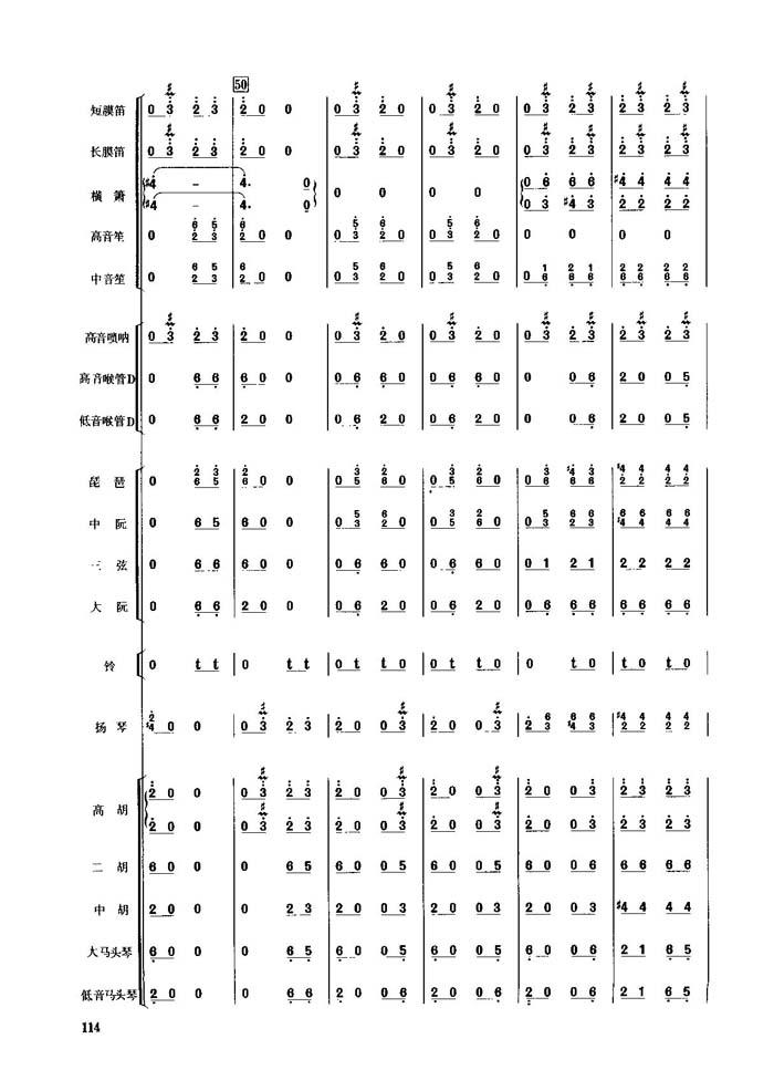 春节序曲(1-10)_总谱_搜谱网