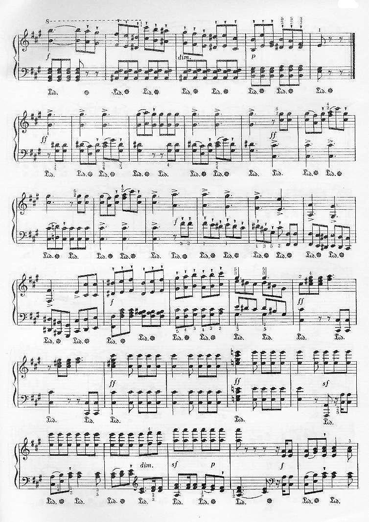 猎歌_钢琴谱_搜谱网