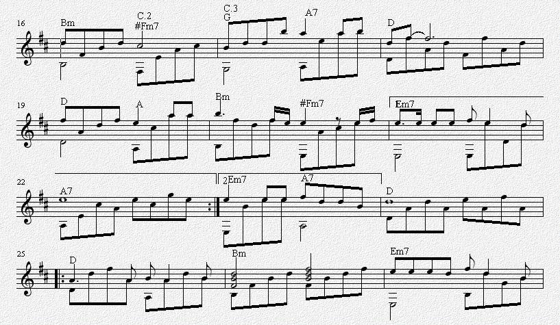 哭砂 吉他独奏谱 五线谱