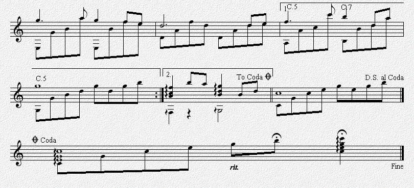 在水一方 古典吉他独奏谱 五线谱
