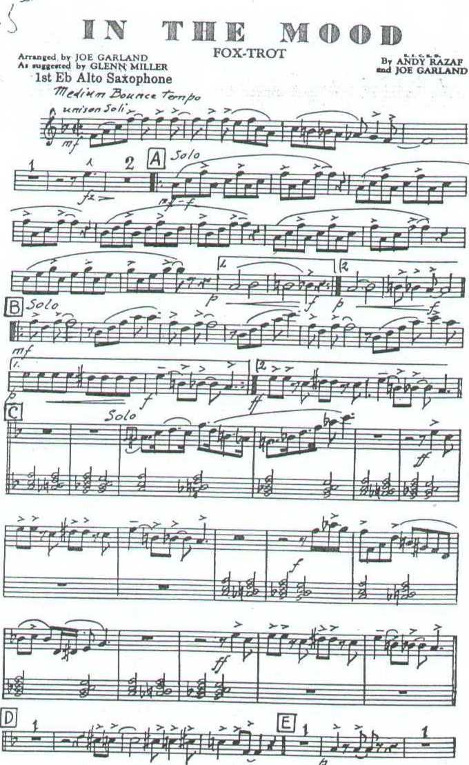 协奏曲 萨克斯爵士乐音乐考级乐谱