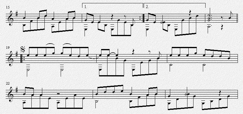 吉他独奏谱 五线谱