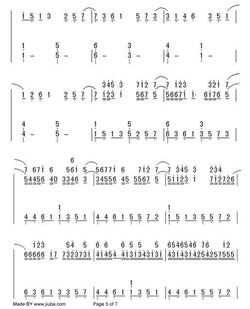 卡农钢琴谱简谱左右手