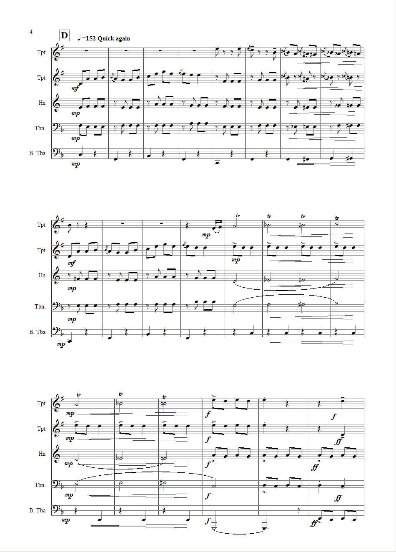 康康舞曲铜管五重奏_其他曲谱