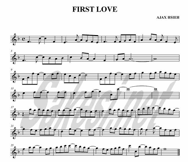 first love 萨克斯谱 用户传谱 搜谱 打造全国最大的歌谱搜索