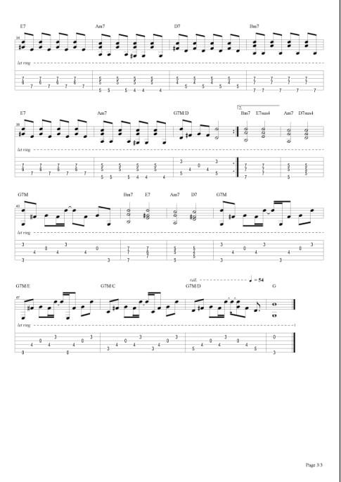 小步舞曲_吉他谱_搜谱网图片