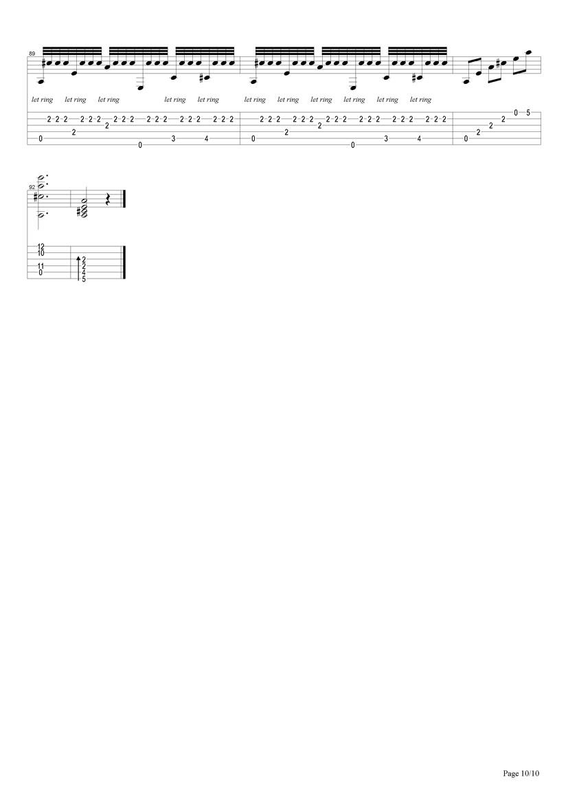 阿尔罕布拉宫的回忆_吉他谱