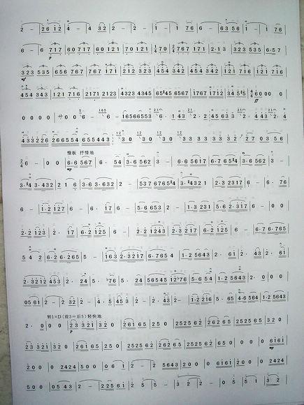《二胡协奏曲《别亦难》简谱版》 二胡谱