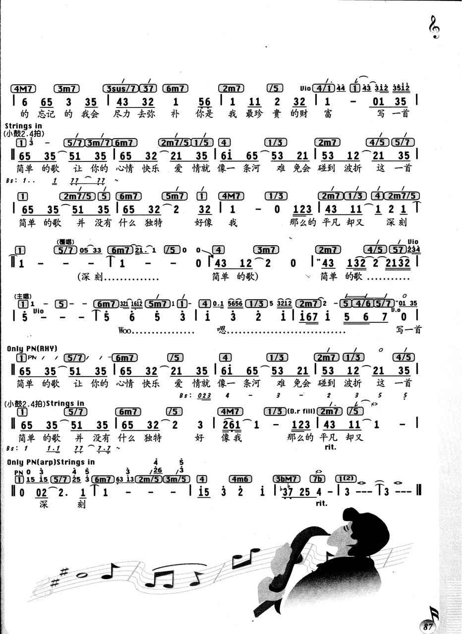 打造全国最大的歌谱搜索引擎 -一首简单的歌