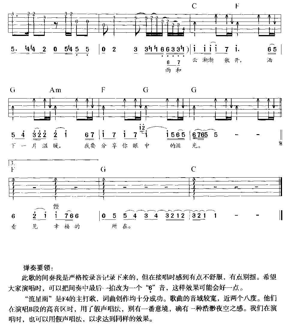 天边的驼骆吉他曲谱