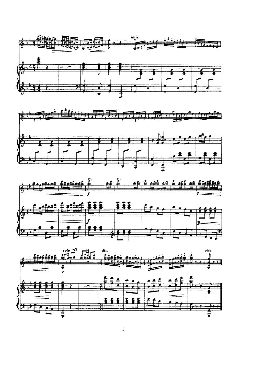 井冈山上太阳红(小提琴齐奏)小提琴谱