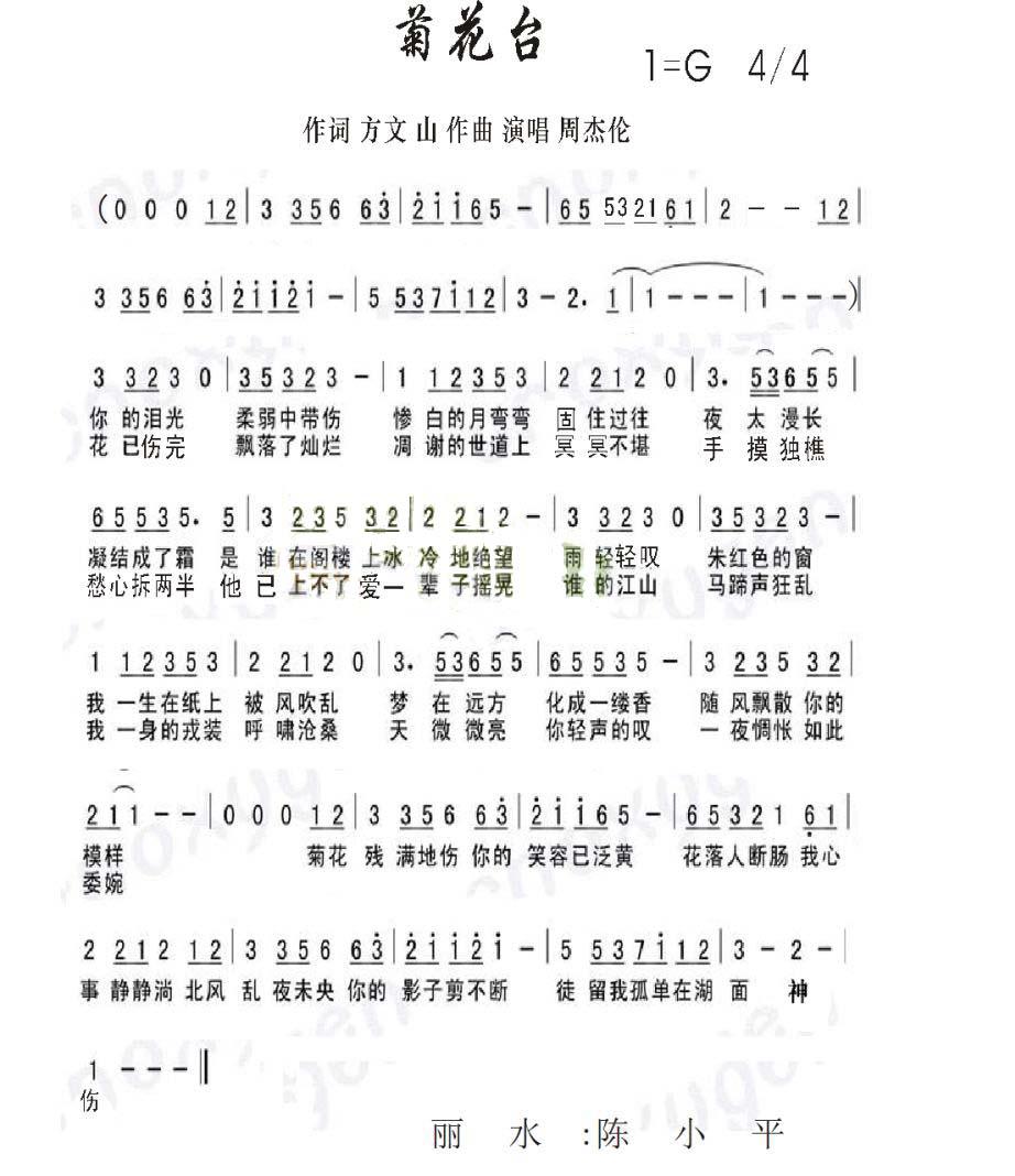 俄罗斯歌曲白桦树简谱