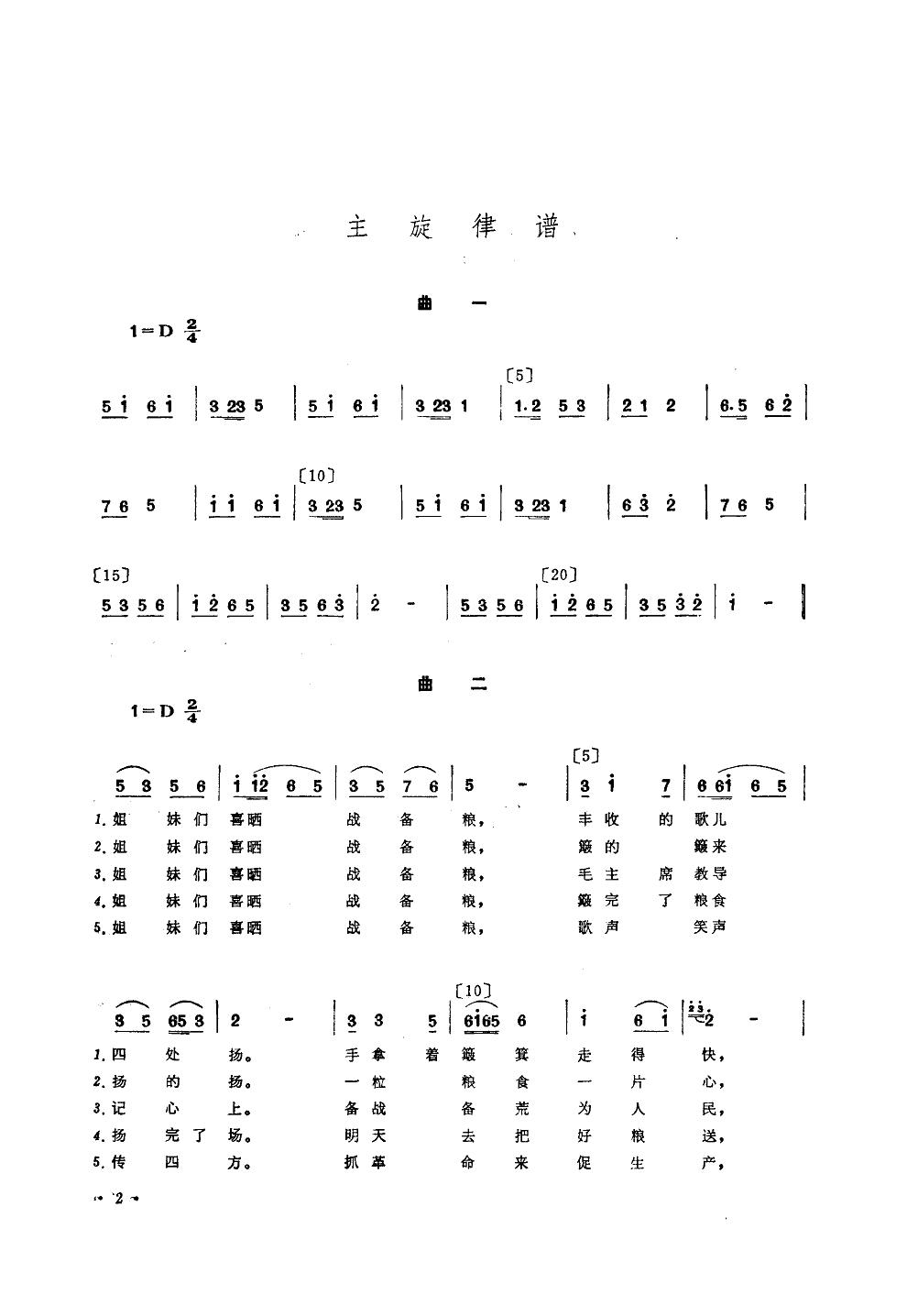 喜晒战备粮(舞蹈音乐)_简谱_歌谱下载_搜谱网