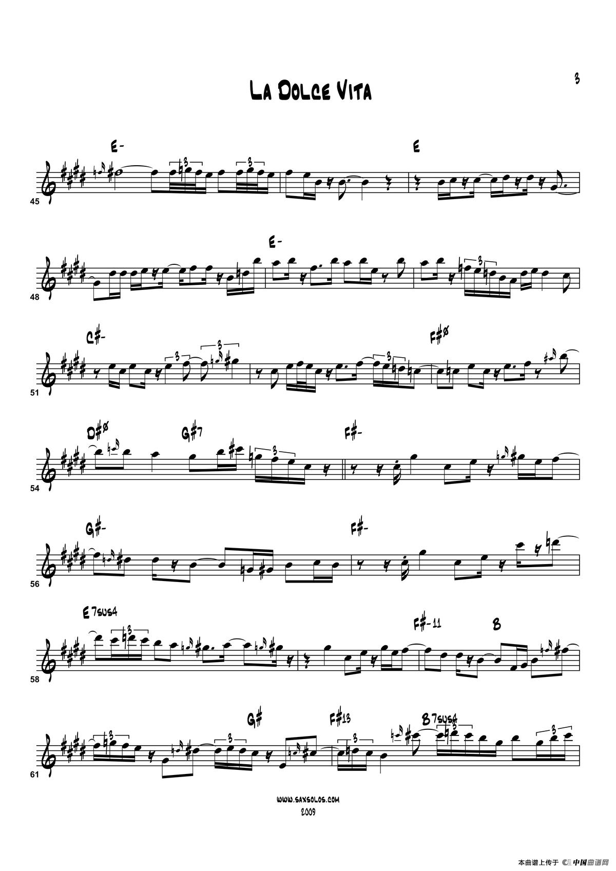 高音萨克斯曲谱