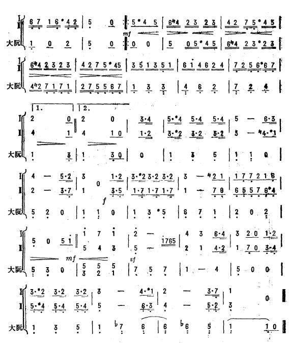 g大调小步舞曲(琵琶二重奏)2图片