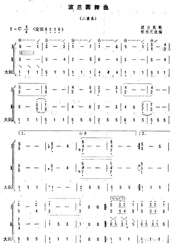 波兰圆舞曲 琵琶二重奏 1