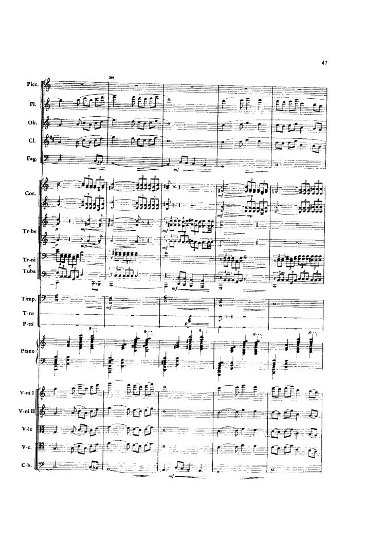 红旗颂 序曲 管弦乐总谱