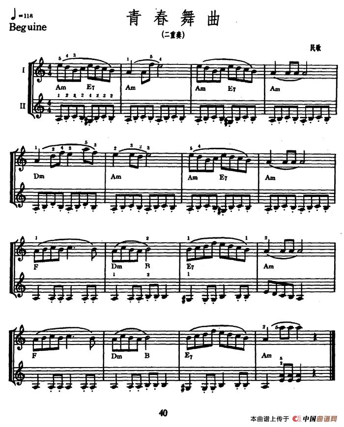 青春舞曲(二重奏)