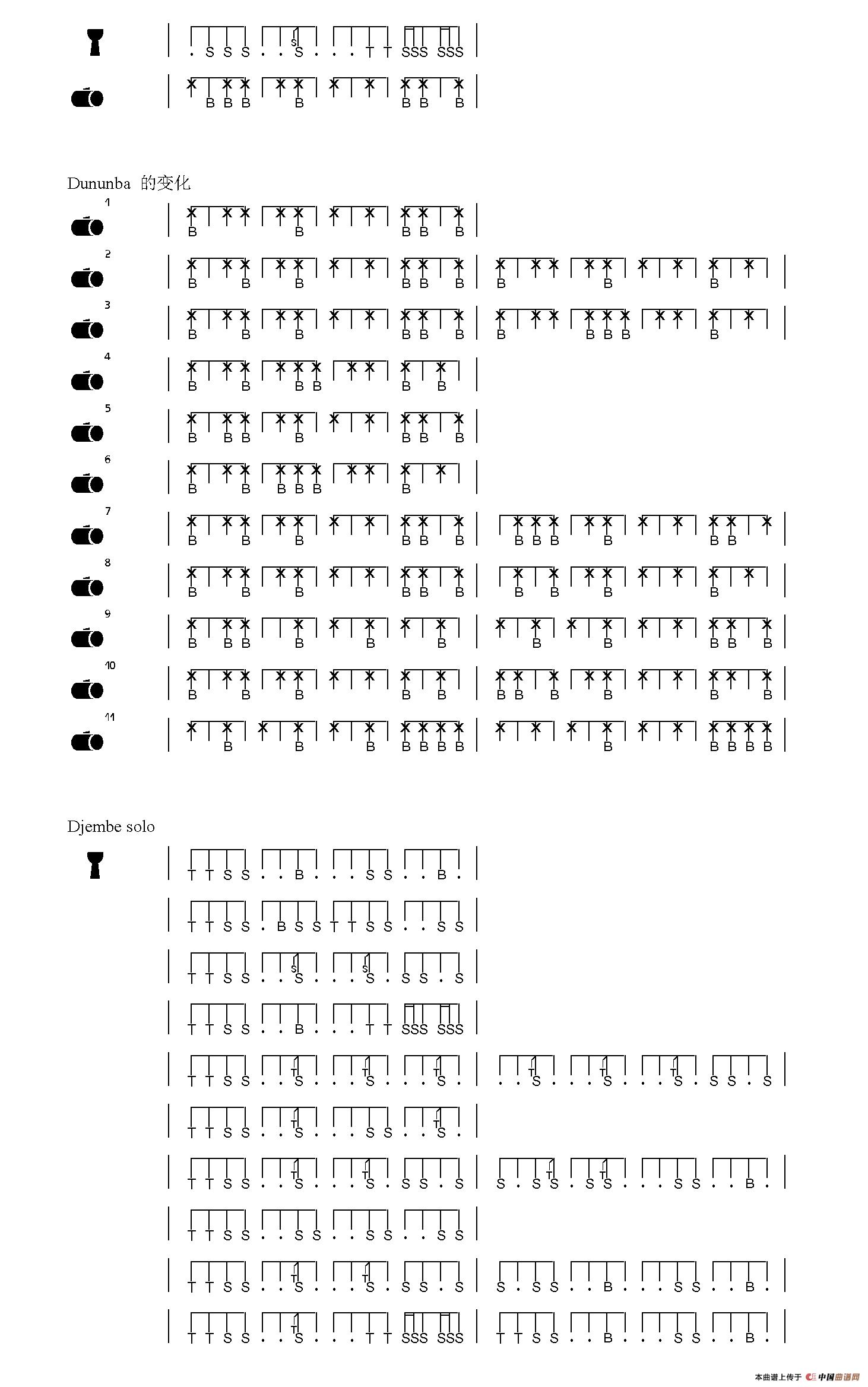 Griot 非洲手鼓谱