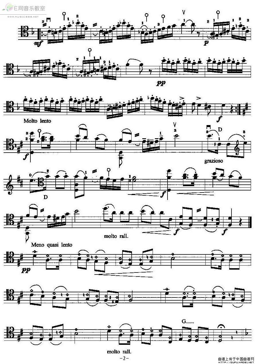 查尔达什舞曲 大提琴曲谱 五线谱
