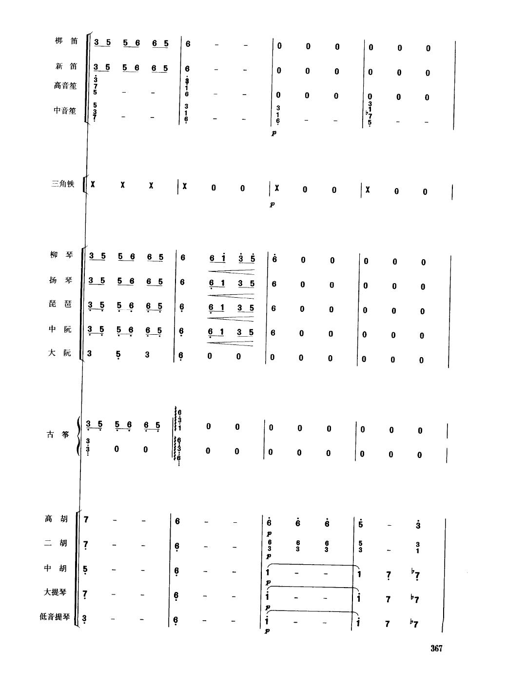 鲜花舞 民乐合奏总谱图片