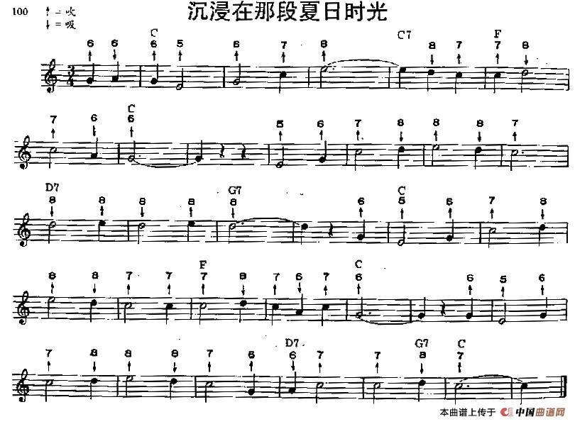 里有节奏布鲁斯口琴谱