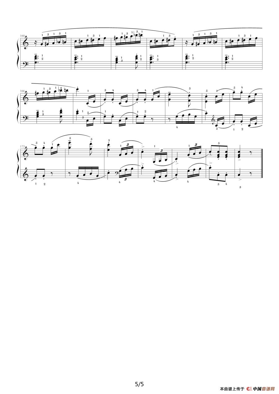 不染钢琴曲谱简谱-c大调钢琴谱
