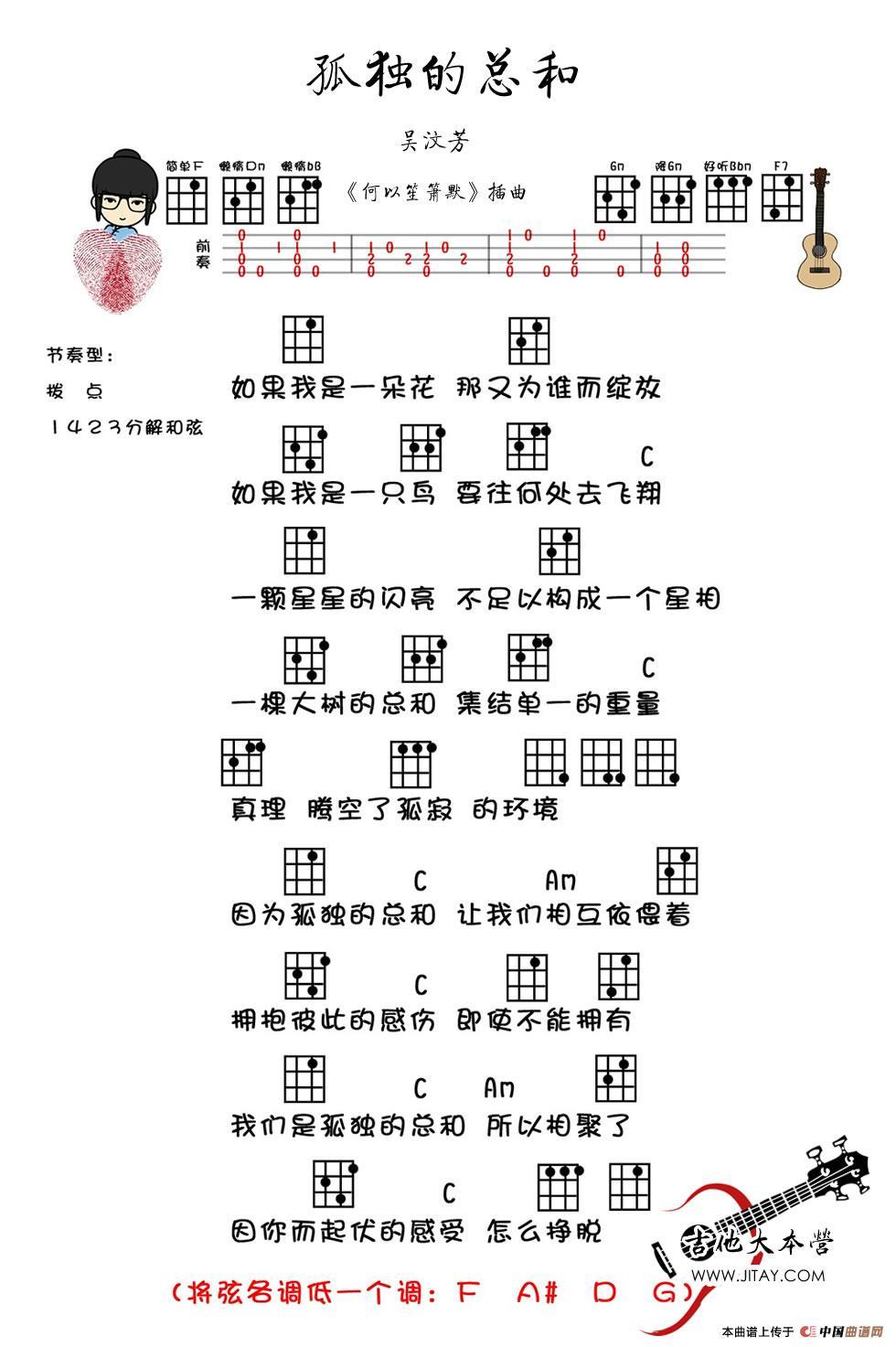 曲)(尤克里里谱)