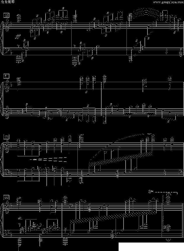 我爱你中国_钢琴谱_用户传谱