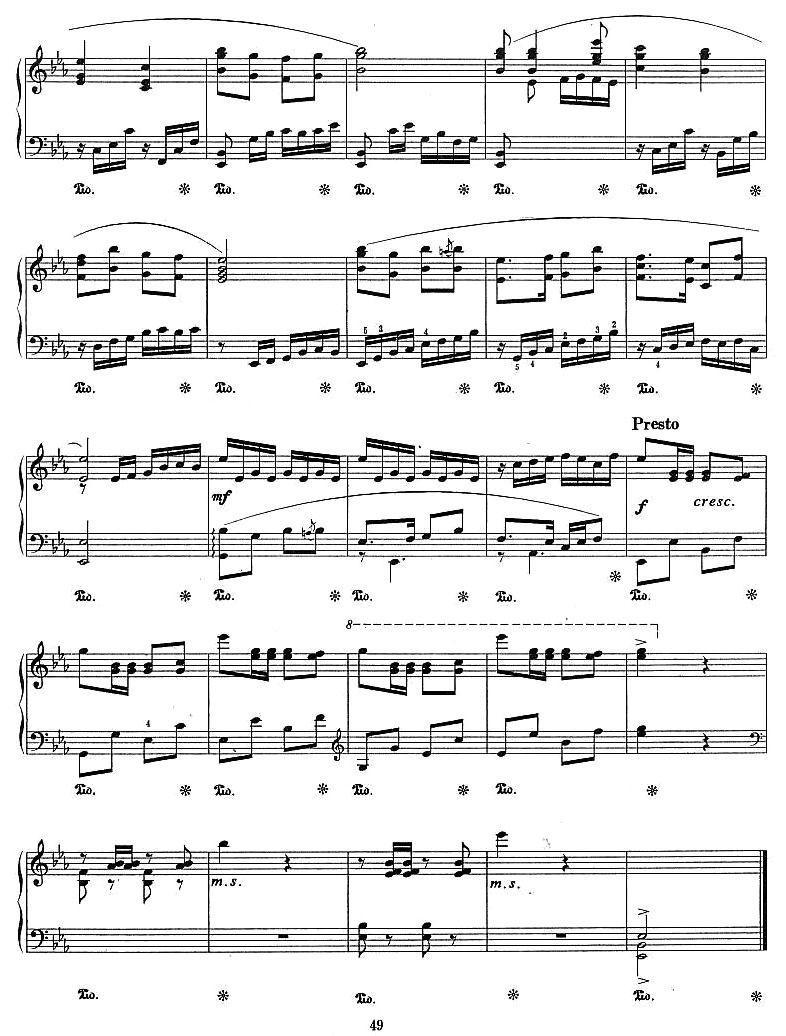 花鼓钢琴曲曲谱