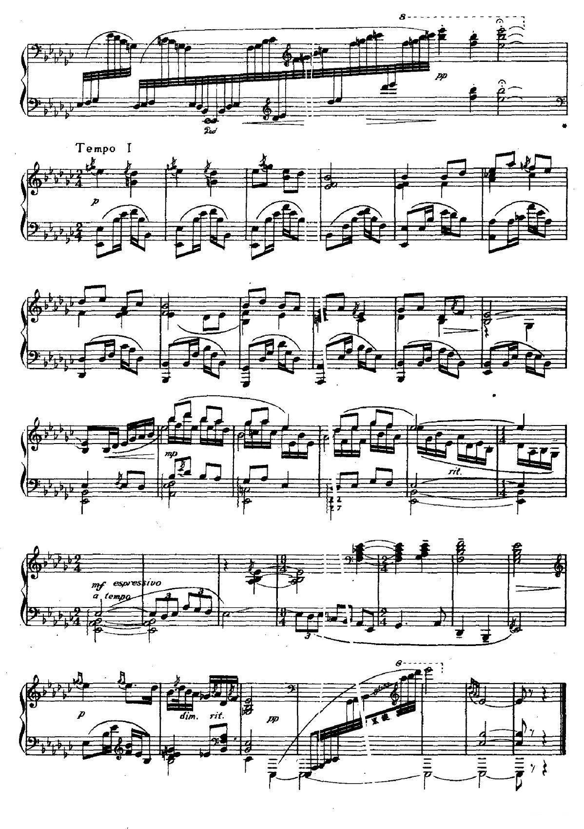 前奏曲二首:二,筝箫吟_钢琴谱_用户传谱 | 搜谱——最图片