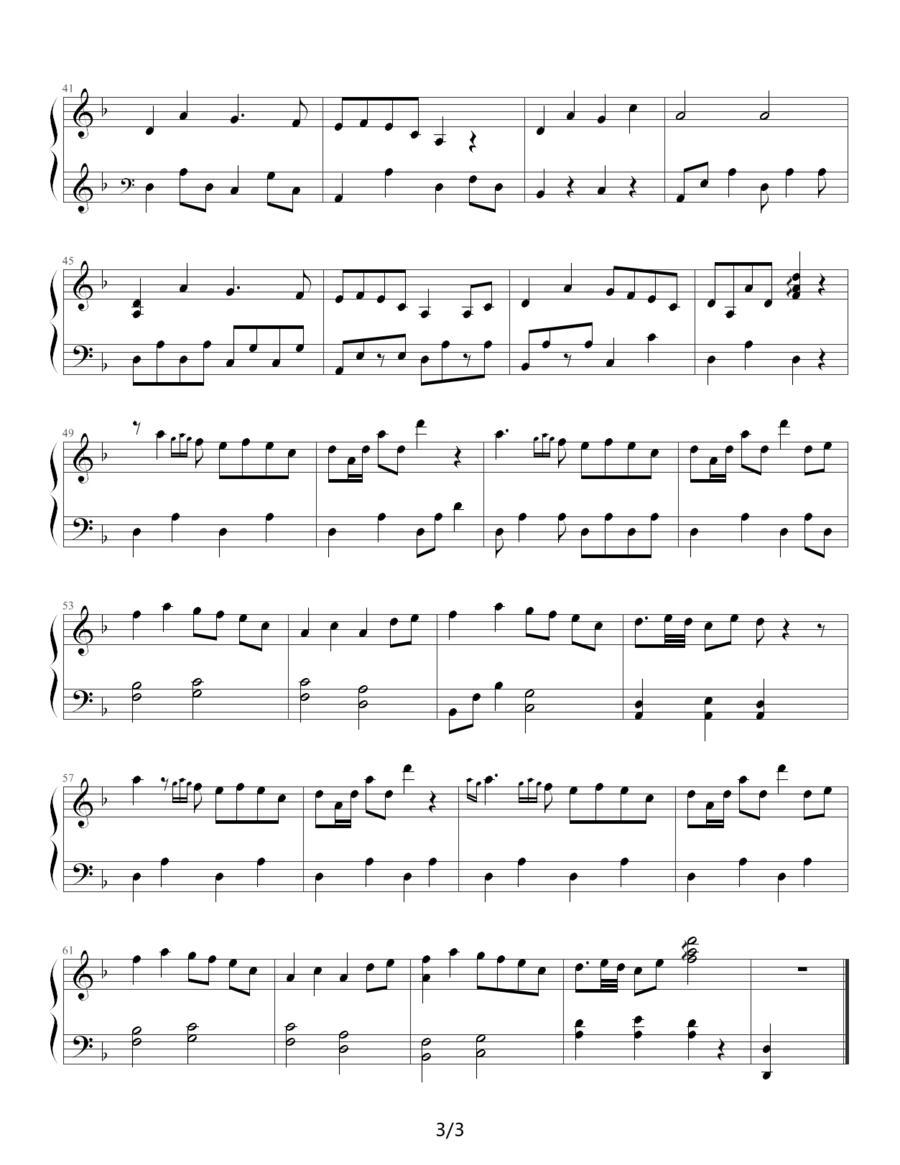 萤火虫的钢琴简谱歌谱分享展示