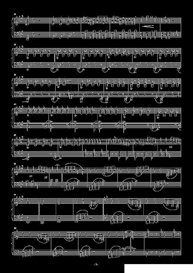 青春舞曲变奏曲 青歌赛歌谱图片