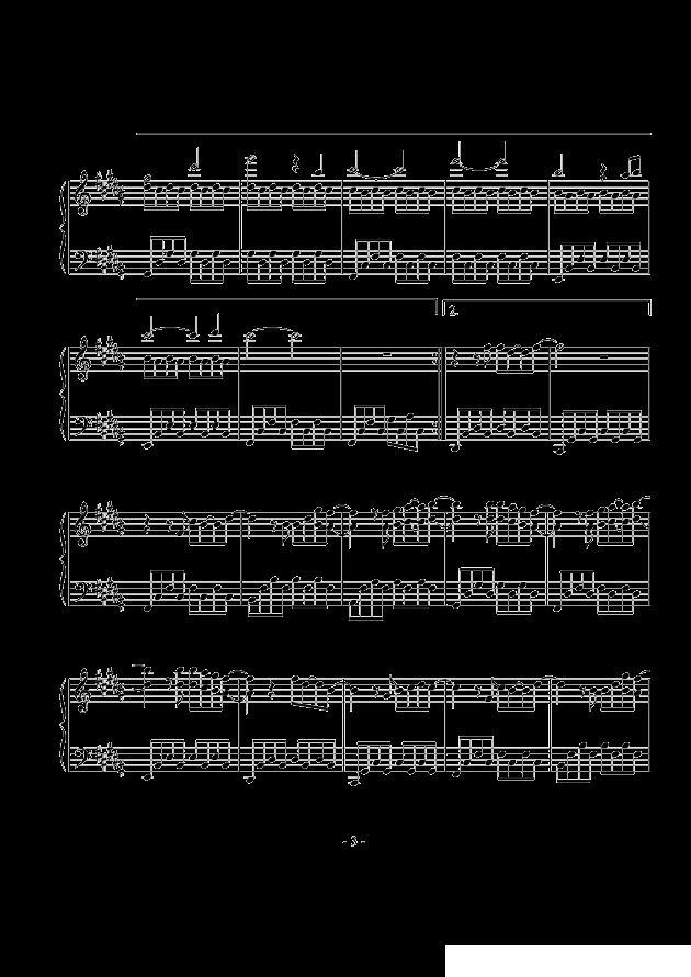 你好可爱的乐谱