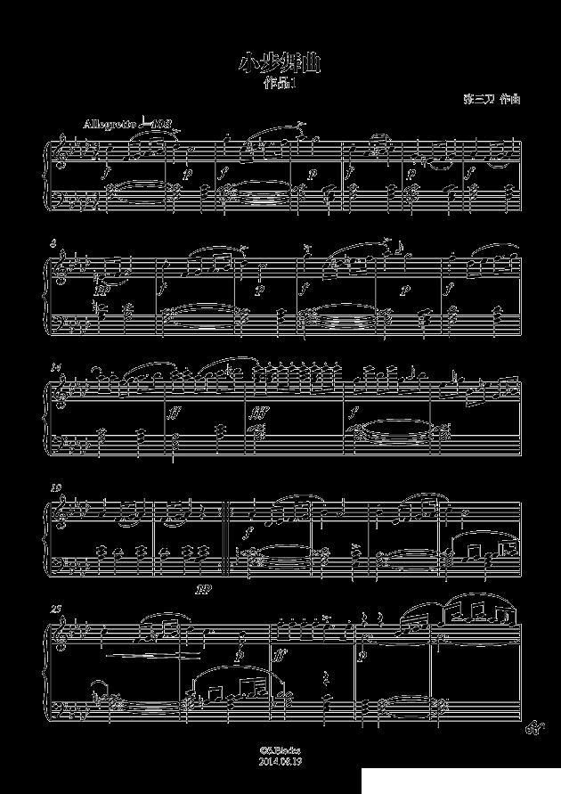 f小调小步舞曲_钢琴谱_搜谱网图片