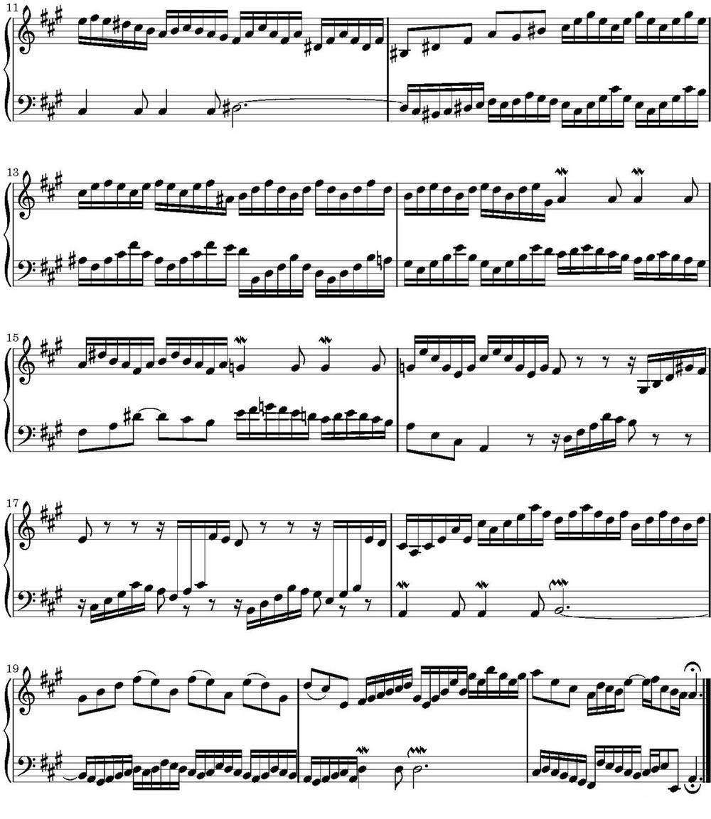 15首巴赫二部创意曲集(no.12)