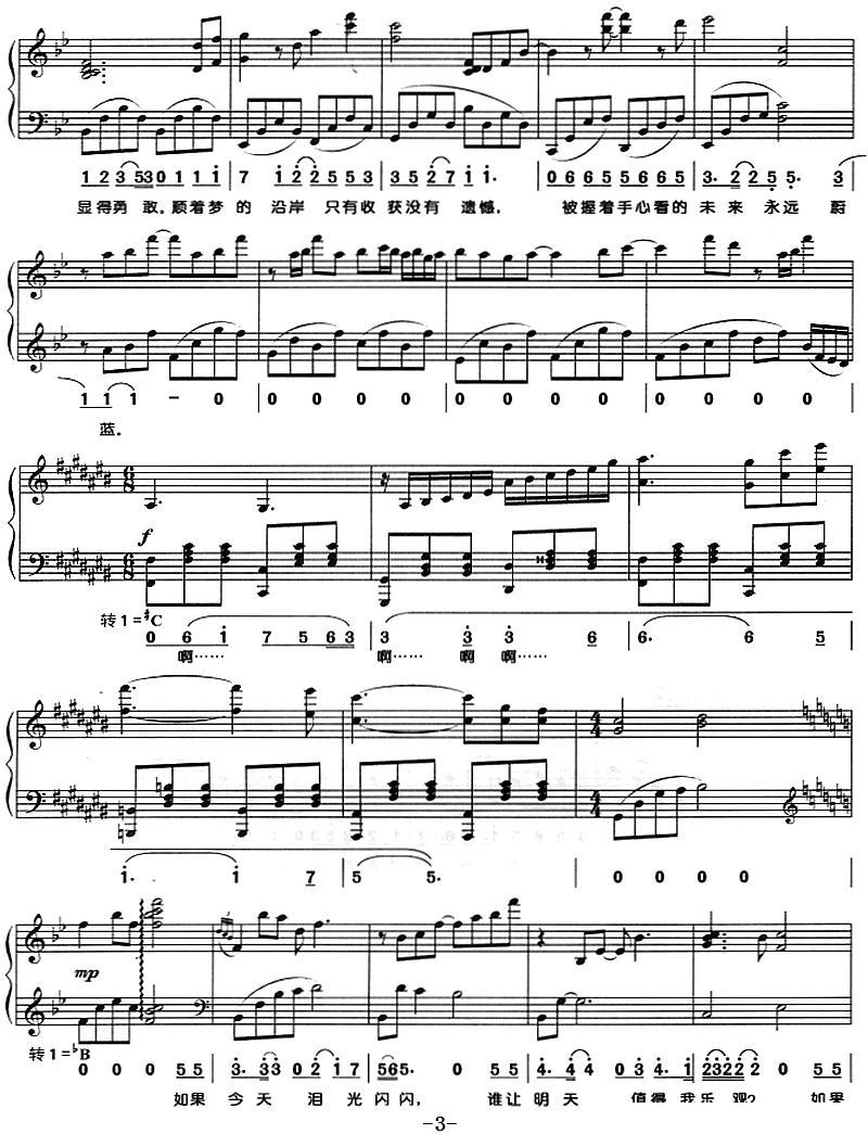 你是答案 钢琴弹唱